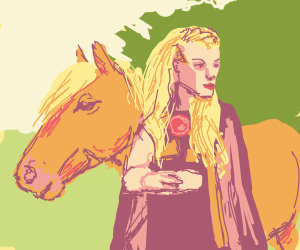 princess by a horse