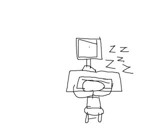 Fell asleep at the computer