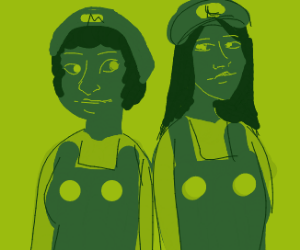 Mario & Luigi Gender Bender