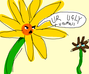 Flower Bullying
