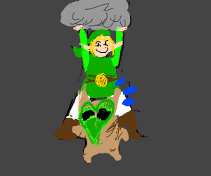Link killing tree dude with boulder