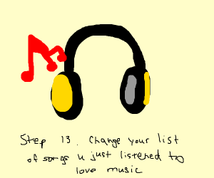 Step 12: Listen to 'Suicide Song' and get sad