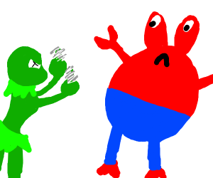 Female Kermit has outrage at Mr. Krabs