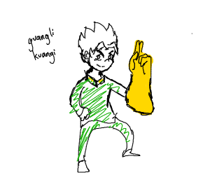 person from jojo with the infinity gauntlet