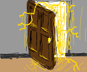 Electricity coming out of door