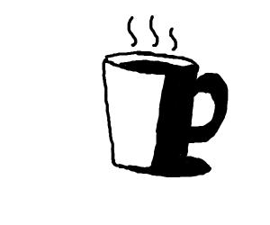a cup of a hot liquid