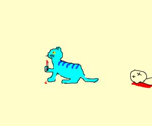 blue cat murderer