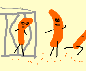 Cheese puffs escaping