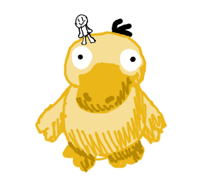 Ride giant psyduck