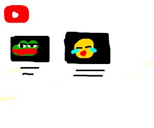 youtube channel uploading bad meme videos