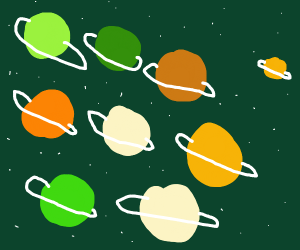 All of the planets have rings!