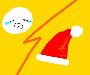 sadness vs santa hat