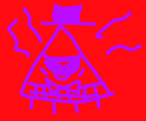 bill cipher with pink eye