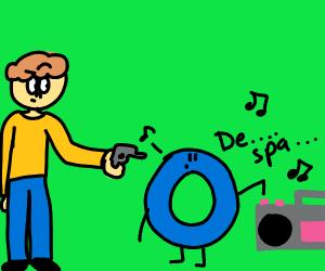 Man shoots blue o about to play despacito