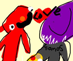 elmo loves thanos