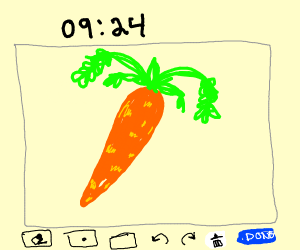 Carrot in a Drawception panel