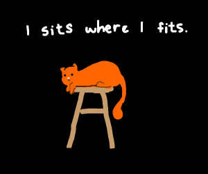 Sitting on a stool