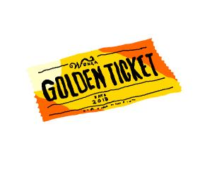 Golden ticket dated 2018