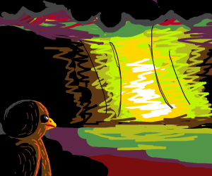 Bird explosion. Probably nuclear..