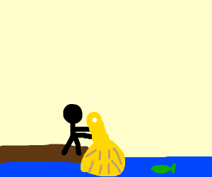Fishing with a Brush