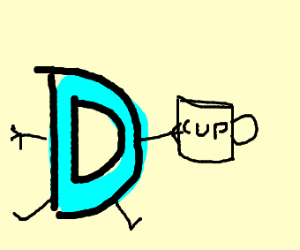 Drawception D has a cup called Cup