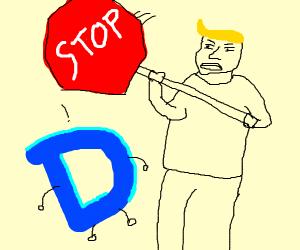 Jazza kills drawception with stop-sign