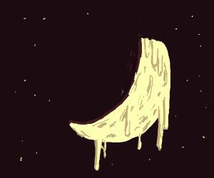 the crescent moon melts