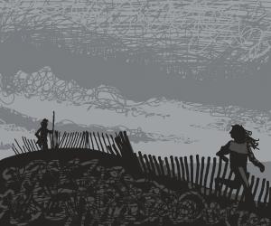 Dusty Dark Derelict Shoreline Jog