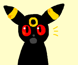 Surprised Umbreon :O