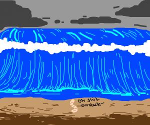 Earthworm in a Tsunami