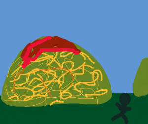 Mountain of spaghetti