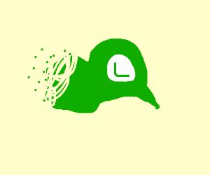 Luigi cap disintegrates