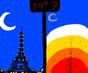 Step 7: destroy Eiffel tower