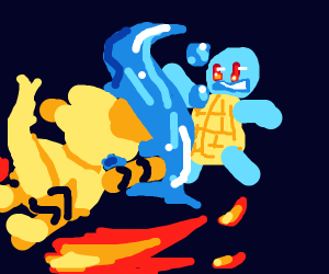 Squirtle vs Arcanine