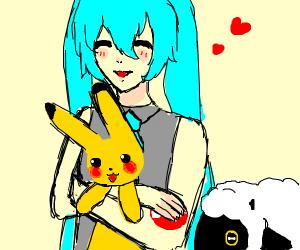 Hatsune Miku Is A Pokemon Fan