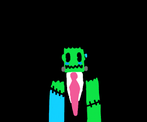 Frankenstein's monster in a business suit