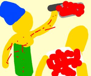Marge Simpson celebrates The Purge
