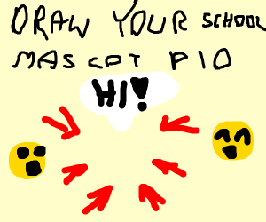 draw your school mascot PIO