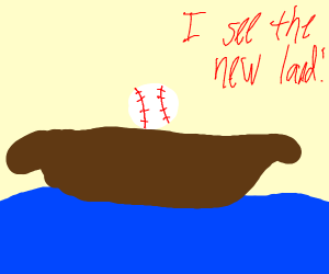 A Baseball crossing a River