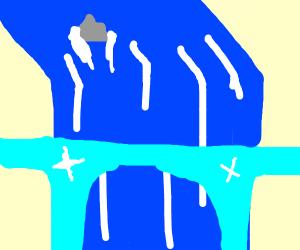 diamond bridge infront of waterfall