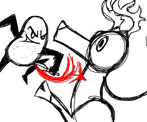 a murdous potatoe killing a deer