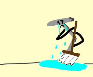 the sad nail has to mop up his tears
