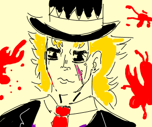 speedwagon jojo with blood i think (?)