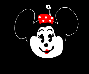 Minnie Mouse with a smiley face