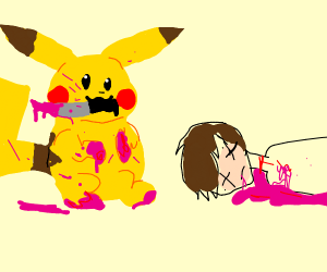 Pikachu kills someone