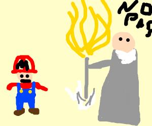 mario meets gandalf