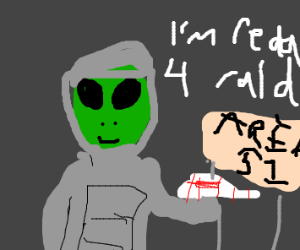 Alien suits up for the Area 51 raid