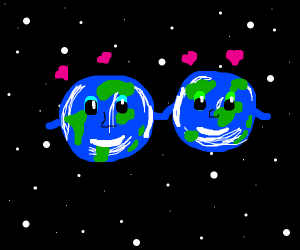 Two Earths Love Eachother