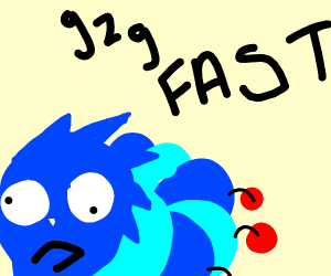 Sonic as a caterpillar, going extra fast