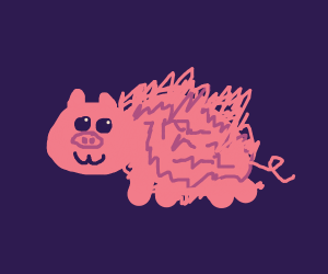 fuzzy piggy :3